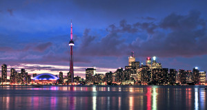 skyline di Toronto in Canada