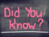 Lo sapevi?