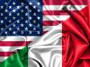 bandiera dell'italia e degli stati uniti
