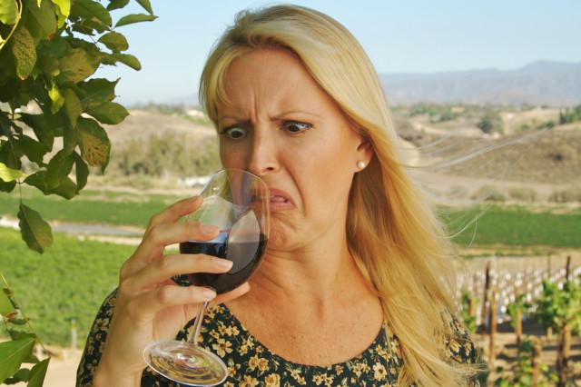 drinking bad wine