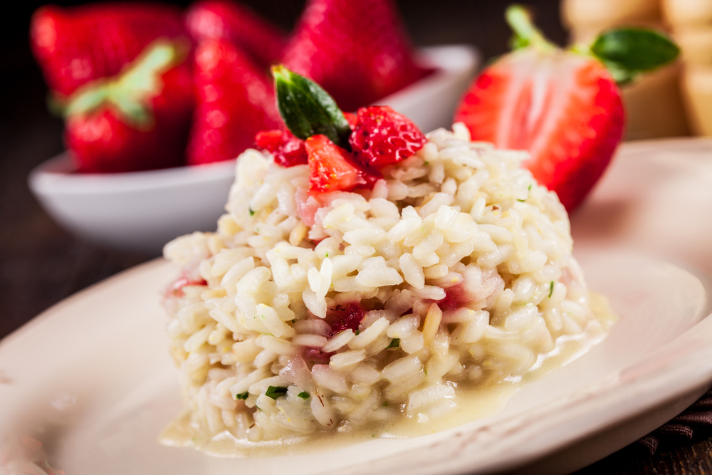 Strawberry Risotto with Essence of Chardonnay - LetItWine