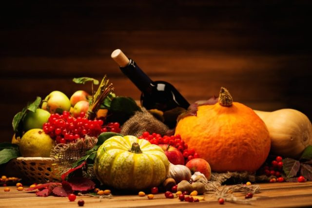 thanksgiving dinner wines